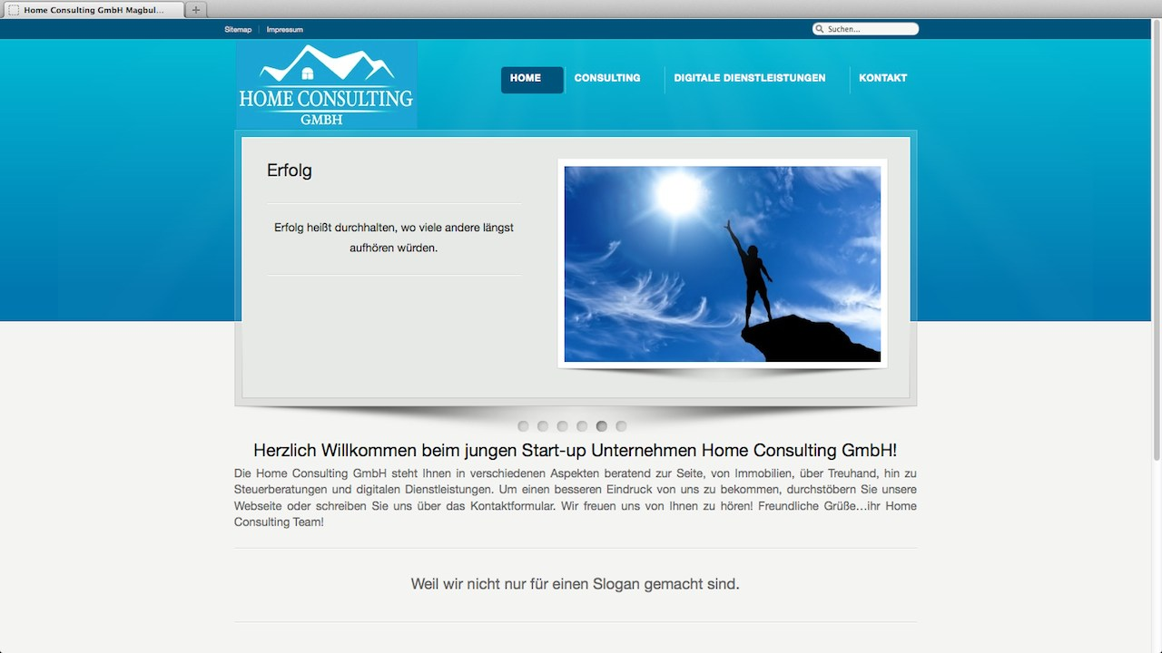 Home Consulting Webseite - by Webdesign Paderborn