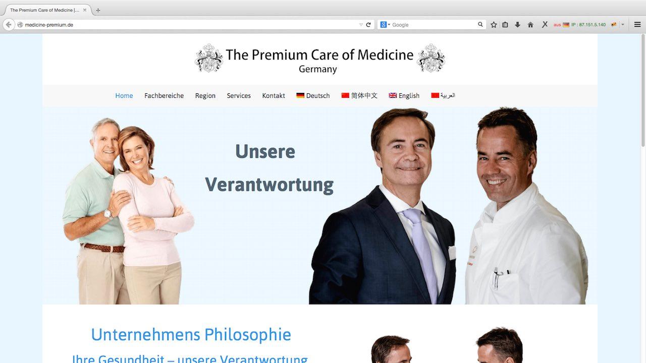 Medicine Premium Webdesign