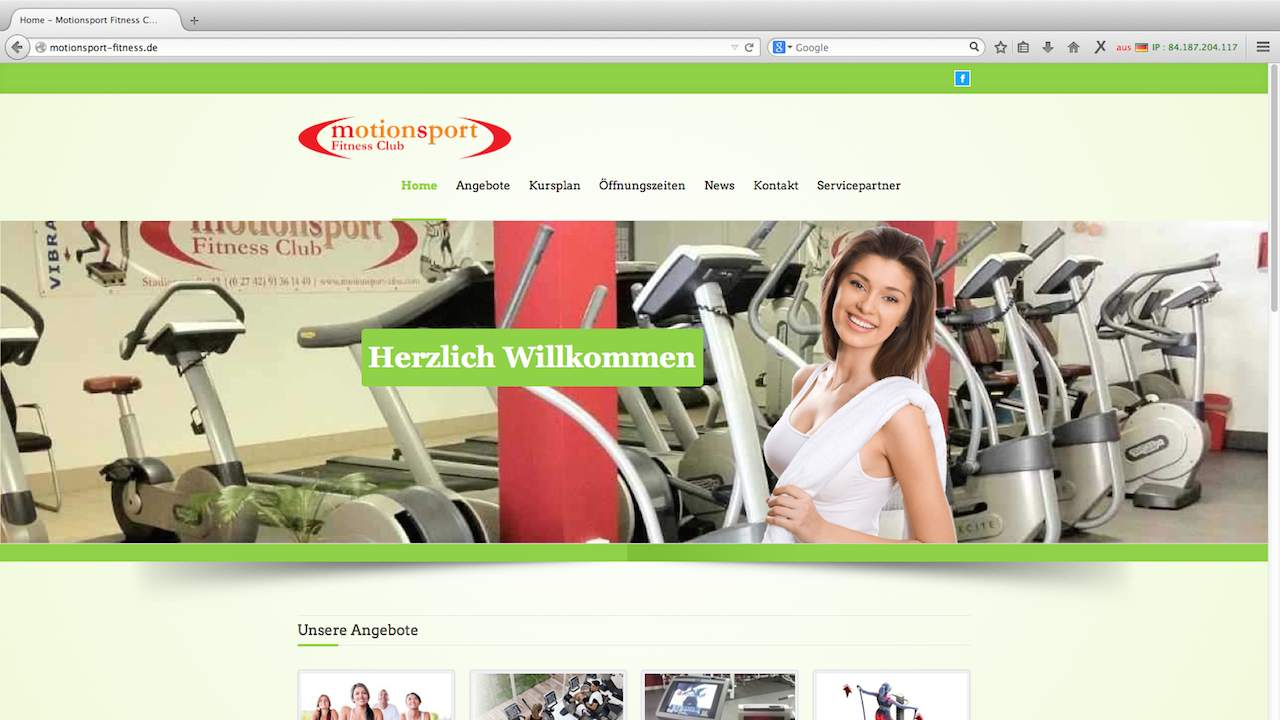 Motionsport Webdesign
