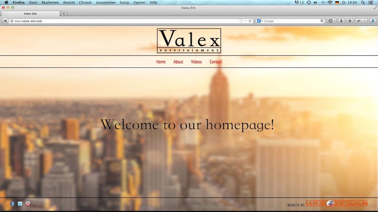 Valex Ent. Webdesign
