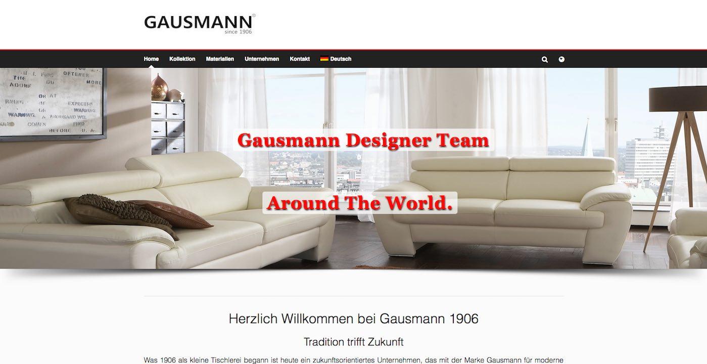 Webdesign Paderborn Referenz der Gausmann 1906 Webseite