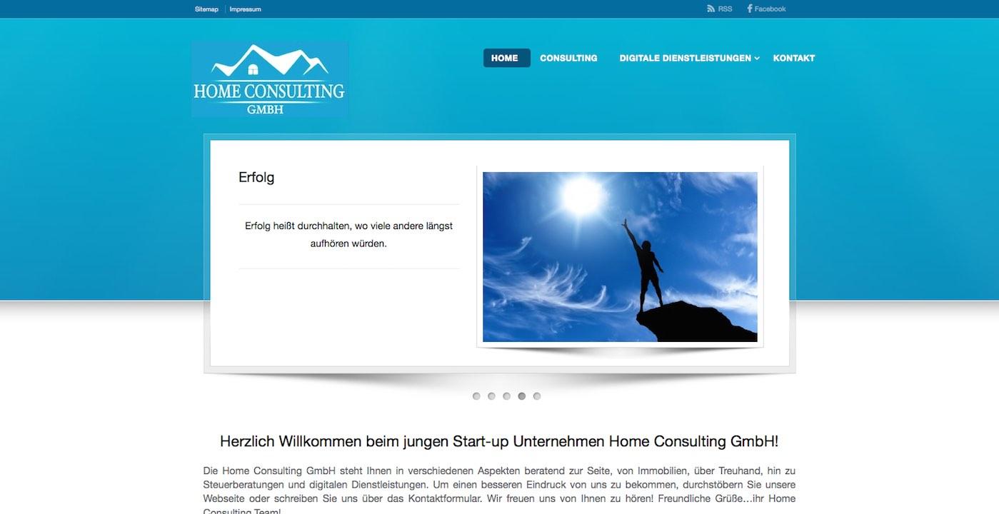 Bild der Webdesign Paderborn Referenz von Home Consulting GmbH